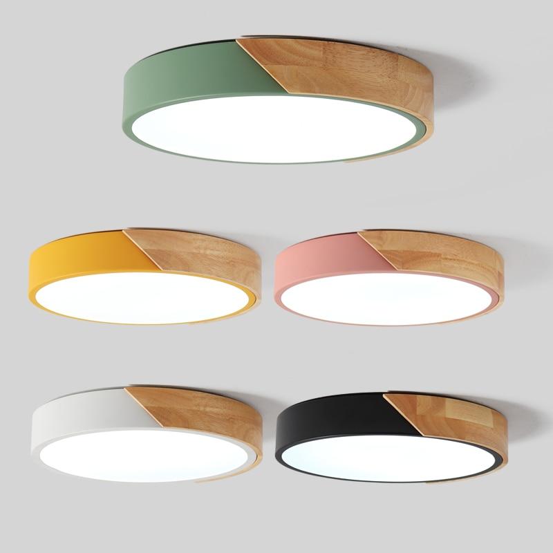 LED Современные Железные Акрил раскрашенный круглый 5 см супер тонкий Светодиодные Лампы.Светодиодные Светильники.Люстры Потолочные.Светил