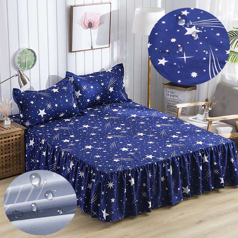Polyester Printed Bedspread Waterproof Bedcover Protection Bed Cover Kids Urine Mattress Cover 11 Colors