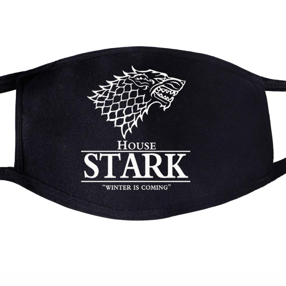 Game Of Thrones Not Today Arya Stark Winter Is Comming Daenerys Targaryen Wolf Dragon Washable Mask