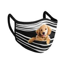 Masque facial imprimé pour chien, 1 pièce, protection buccale, Lavable, respirant, réutilisable, anti-poussière, pour fête en plein air, pour adulte