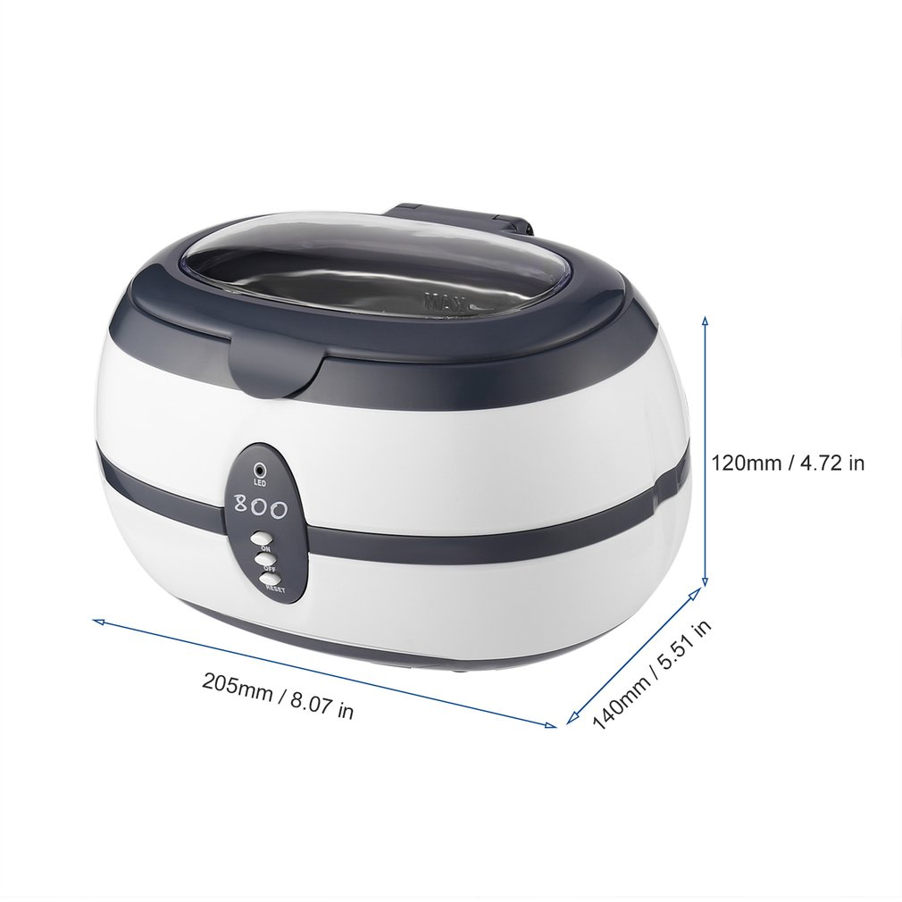 Rvs 600ML Capaciteit 40 KHz Digitale Ultrasone Reiniger voor Professionele Sieraden Horloge Bril en Thuisgebruik DK 08A - 6