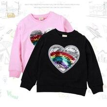 Детская одежда; Одежда для мальчиков и девочек; джемпер; футболка с разноцветными блестками; пальто из хлопка; горячая Распродажа г.; Качественная одежда