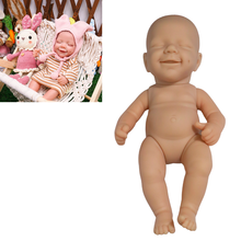 Mini Bebe Reborn 12 Inches Doll Kit April DIY Full Vinyl Body Soft Touch Lifelike Unassembled Unpainted Blank Parts Toy For Girl