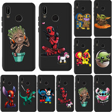 For Huawei P40 Pro Mate 30 Pro Case 20 Lite 10 P Smart Nova 5i Honor 20 Stitch deadpool great baby yoda thanos Phone Case Funda(China)