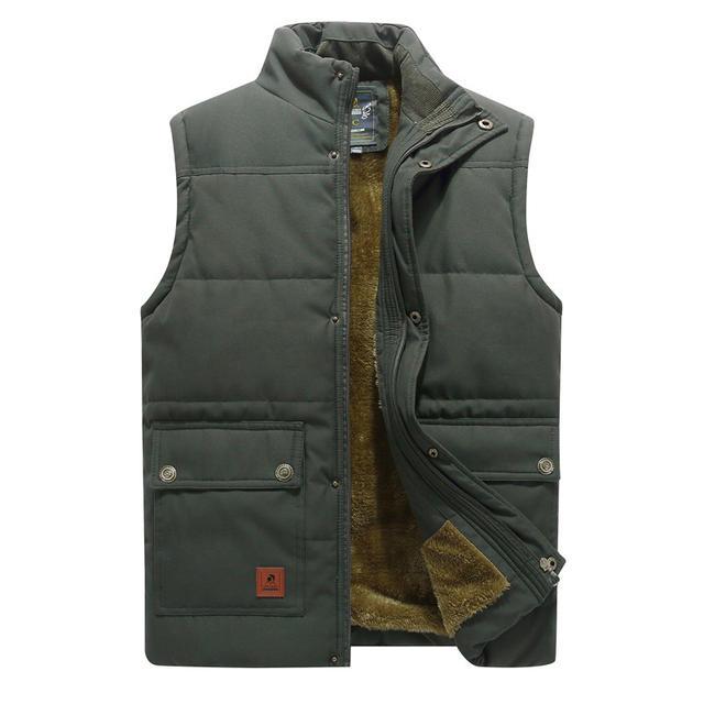 Men's Winter Vest Thick Warm Fleece Outwear Soft Thermals Sleeveless Jackets