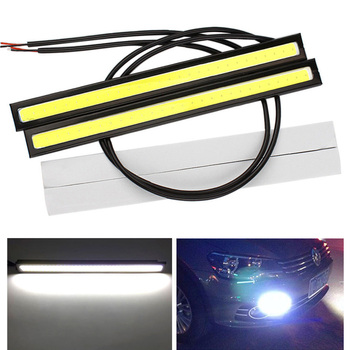 1x 17cm 12V Super Waterproof Bright COB Car Day LED Lights DRL Fog Driving Lamp image