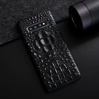 CKHB Real Genuine Leather Case for galaxy S10 S10e S10+ Phone Luxury 3D Crocodile Pattern Retro Vintage Hard Slim Cover Cases