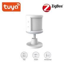 Tuya zigbee pir sensor inteligente sem fio wifi pir sensor de movimento detector a pilhas sistema alarme em casa trabalho com ifttt