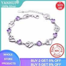 YANHUI Silver 925 Jewelry Elegant Bracelet Jewelry 925 Sterling Silver Natural P