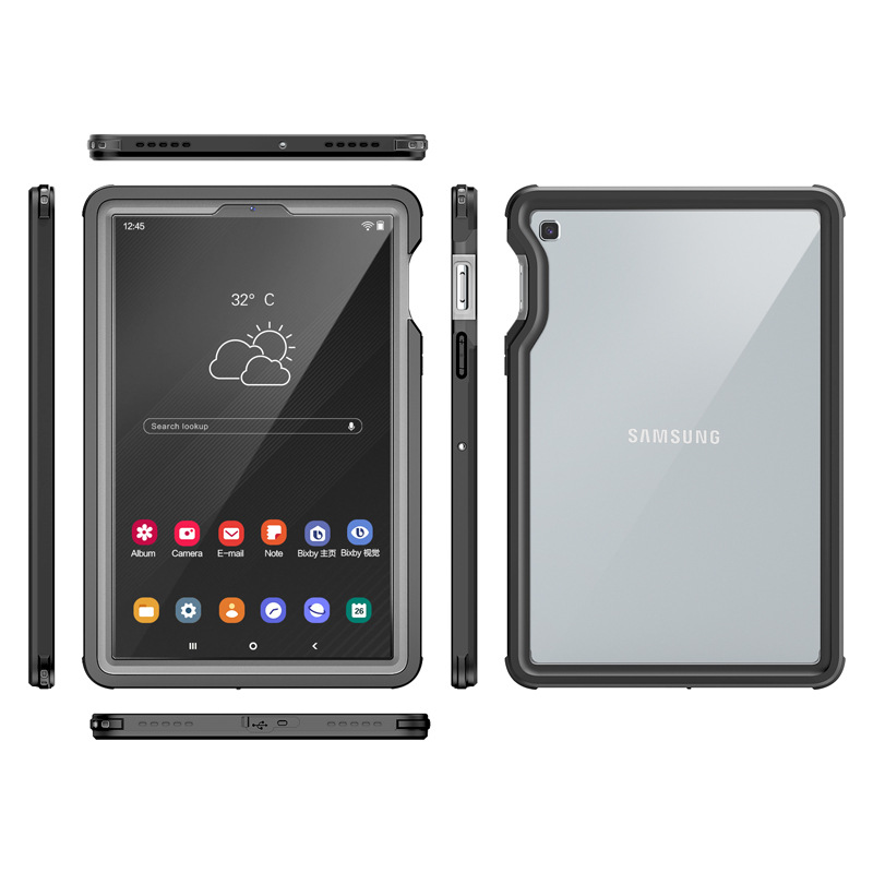 Real Waterproof Case for Samsung Galaxy Tab S5E 10.5 T720 Shockproof Full Protect Tablet Cover for Samsung S5e Underwater Swim-5