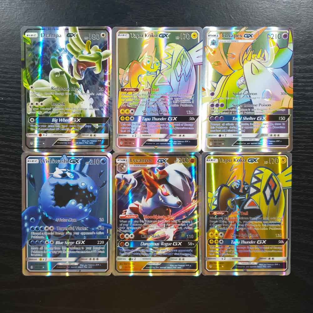 TAKARA TOMY Pokemon 120pcs Flash Cards Collections Battle Shining Card 109 GX 11 Trainer Board Game Children Toys Gifts