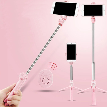 Wireless Bluetooth Selfie Stick Tripod With Remote Control for iPhone Huawei Samsung Android Mobile Monopod Selfie Stick Shutter 1
