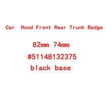 82mm/74mm/45mm base preta emblema emblema capô dianteiro traseiro tronco logotipo para e46 e39 e38 e90 e60 z3 z4 x3 x5 x6 51148132375