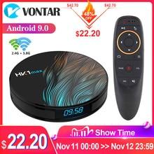 2020 스마트 TV 박스 안드로이드 9 9.0 HK1 최대 4 기가 바이트 128 기가 바이트 Rockchip 4K TVBOX 유튜브 와이파이 안드로이드 TV 셋톱 박스 미디어 플레이어