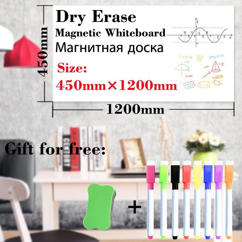 Dry Erase White Board Soft Fridge Stickers Kitchen Office Child Draw Message Board 450MM*1200MM Wall Board Whiteboard Magnetic