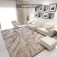 200*290cm nordycki współczesny złoty lekki luksusowy sypialnia nocna jadalnia sofa do salonu abstrakcyjny dywan artystyczny w Dywany od Dom i ogród na