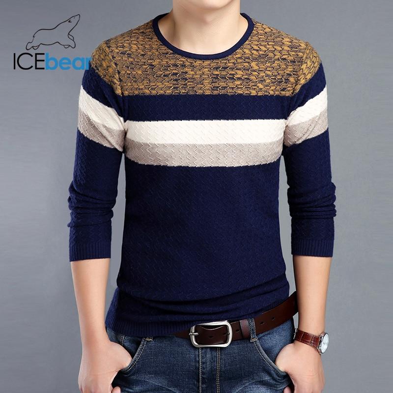 ICEbear 2019 New Fall Men's Sweater Fashion Casual Men's Pullover Brand Apparel 1716