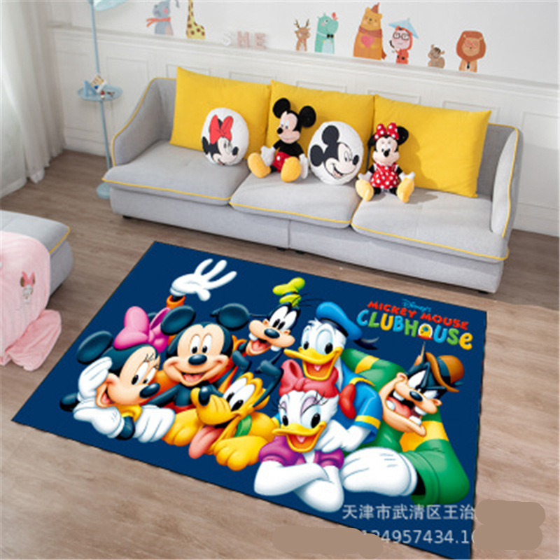 Disney Cartoon Mickey And Minnie Mouse Door Mat Kids Boys Girls Game Mat Bedroom Kitchen Carpet Indoor Bathroom Mat