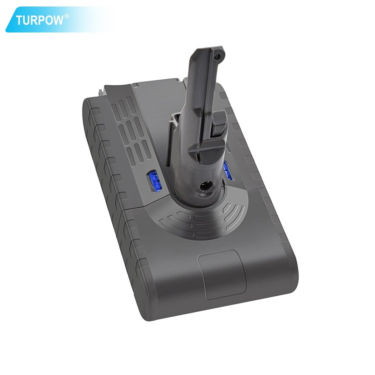 Turpow 4000mAh V8 Battery 21.6V For Dyson V8 Battery Absolute V8 Animal Li-ion Vacuum Cleaner Rechargeable BATTERY