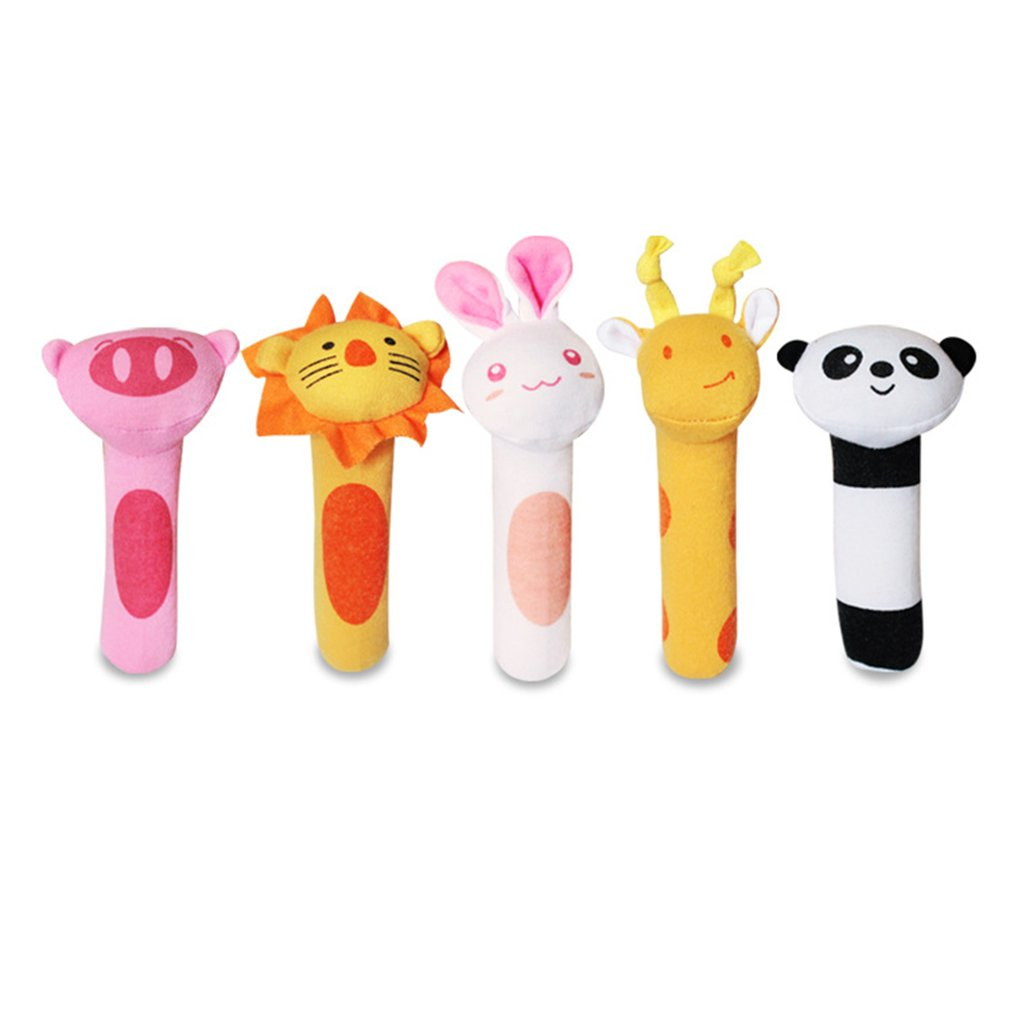 Baby Rattles Differnet Kinds Of Baby Plush Rattle Educational Toys Rattle Animal BB Stick Animal Toy Doll Kids Toy