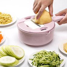 Multifuncation Vegetable Slicer Potato Peeler Carrot Onion Grater with Strainer Cutter 8 in 1 Kitchen Accessories #