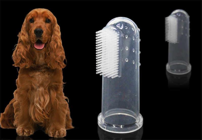 Neue Heiße Verkauf Super Weiche Haustier Finger Zahnbürste Teddy Hund Pinsel Mundgeruch Zahnstein Zähne Werkzeug Hund Katze Reinigung Supplies-1PC