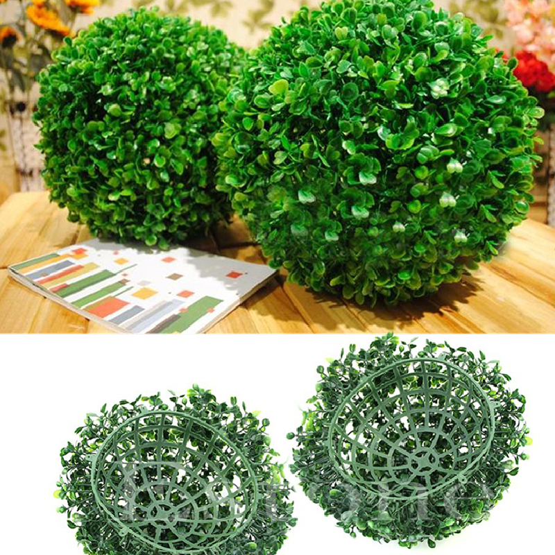 Artificial Plant Ball Tree Green Plant Ball Wedding Decor Home Outdoor Decorations Ornament Plastic Fake Green Grass Balls