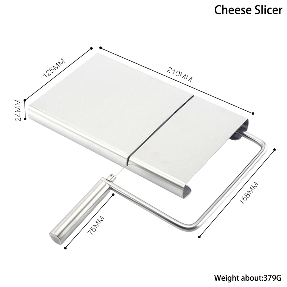 Stainless Steel <font><b>Cheese</b></font> <font><b>Slicer</b></font> Tool 1PC <font><b>Cheese</b></font> <font><b>Slicer</b></font> <font><b>Wire</b></font> Cutter With Serving Board for Hard Semi Hard <font><b>Cheese</b></font> Butter image