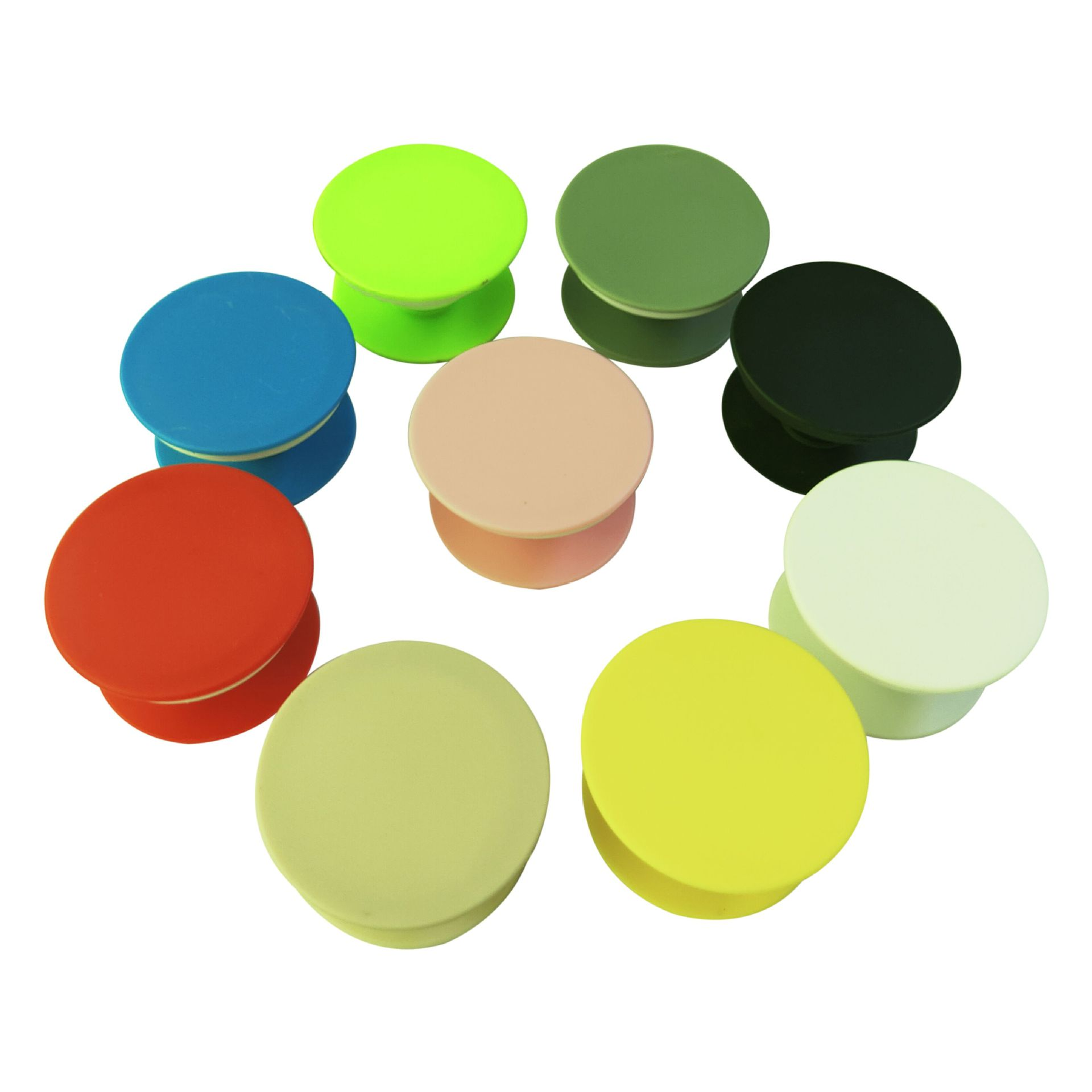 1piece Round Blank Material Mobile Phone Folding Stretch Airbag Bracket Phone Holder Balloon Support