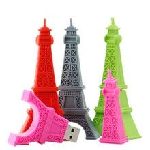 Eiffeltoren Gepersonaliseerde Pendrive 32 16 256 Gb Usb Flash Drive 4Gb 8Gb 16Gb 64Gb Memoria stok USB2.0 Pendrive 128Gb Leuke Gift
