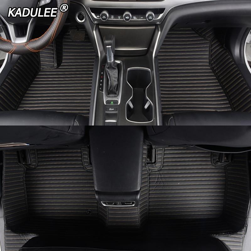 KADULEE Custom Car Floor Mats For MINI Cooper R50 R52 R53 R56 R57 R58 F55 F56 F57 Countryman R60 F60 Mini One Car Accessories