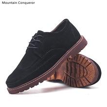 Mountain Conqueror 2019 Autumn Winter Shoes Men Boots Genuine Leather Casual Men Winter Boots Classic Male Ankle Botas hombre стоимость