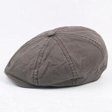 Весенне-летний берет Мужская Женская кепка газетчика восьмиугольная кепка для женщин мужчин английский стиль ретро плоская кепка boina плоская кепка 57-60 см