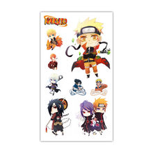 1 Pc Naruto Tattoo Sticker Anime Stiker Water Transfer Tijdelijke Kinderen Tattoos Papier Voor Kids Body Arm(China)
