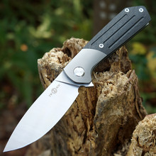 TWOSUN knives 14C28N folding Pocket Knife tactical camping hunting Knife outdoor tool Carbon Fiber Titanium EDC Fast Open TS223(China)