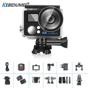 Action-Camera Remote-Control Waterproof Sports WIFI Mini 4K with Screen-Hd Slim New