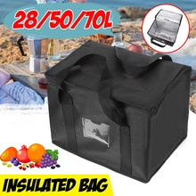 70L Reusable Grocery Insulated Cooler Bag Grocery Tote Large Shopping Box Insulated Bags With Zippered