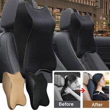 Подушка для шеи на подголовник автомобиля регулируемый с 3d