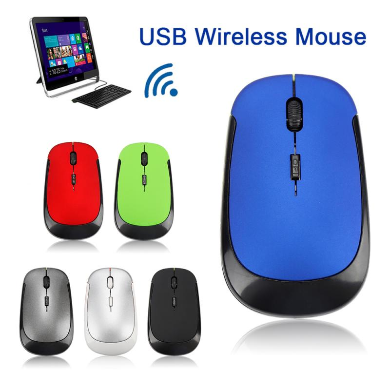 Newly 2.4 GHz Optical Wireless Mouse Ultra-thin Office Mice + Receiver Ergonomic Design Wireless Mouse For PC Laptop