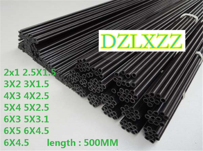 10pc Carbon Fiber Tube 2mm/2.5mm/3mm/4MM/5MM/6MM For Quadcopter Multicoptor 500mm