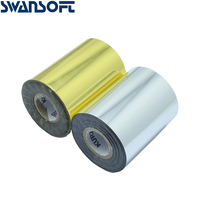 SWANSOFT Hot Foil Stamping Paper Heat Transfer Anodized Gilded Paper 2 Rolls(gold and slilver) for sale