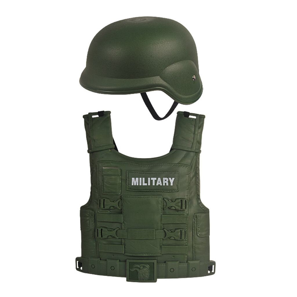 14x Children Role Play  Children Boys Army Helmet Costumes Toys 1
