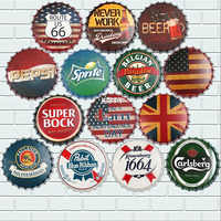 35cm tapa de cerveza Retro Metal estaño carteles cartel Pub Bar decoración de pared placa de Metal Vintage decoración del hogar placas de arte