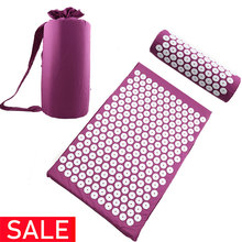 Acupressure Mat Head Neck Back Foot Massage Cushion Pillow Yoga Spike Mat Anti-stress Acupuncture pad Needle Massager(China)