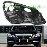 Carcasa E300 E200 E260 E250 para Mercedes w212 carcasa de plástico negro lente lámpara base lámpara de protección base frontal faro trasero caso