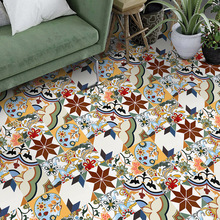 Creative Moroccan Style Pvc Retro Living Room Bedroom Wallpaper Wall Sticker Kitchen Oilproof Bathroom Waterproof