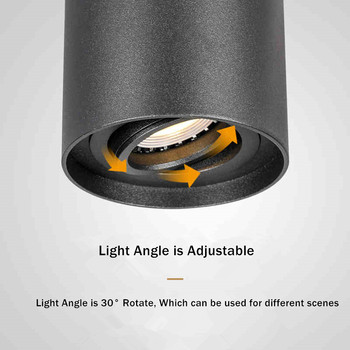 [DBF]Angle Adjustable LED Surface Mounted Downlight 5W/7W Black/White Housing+Replaceable GU10 Bulb LED Ceiling Spot Light Decor 3