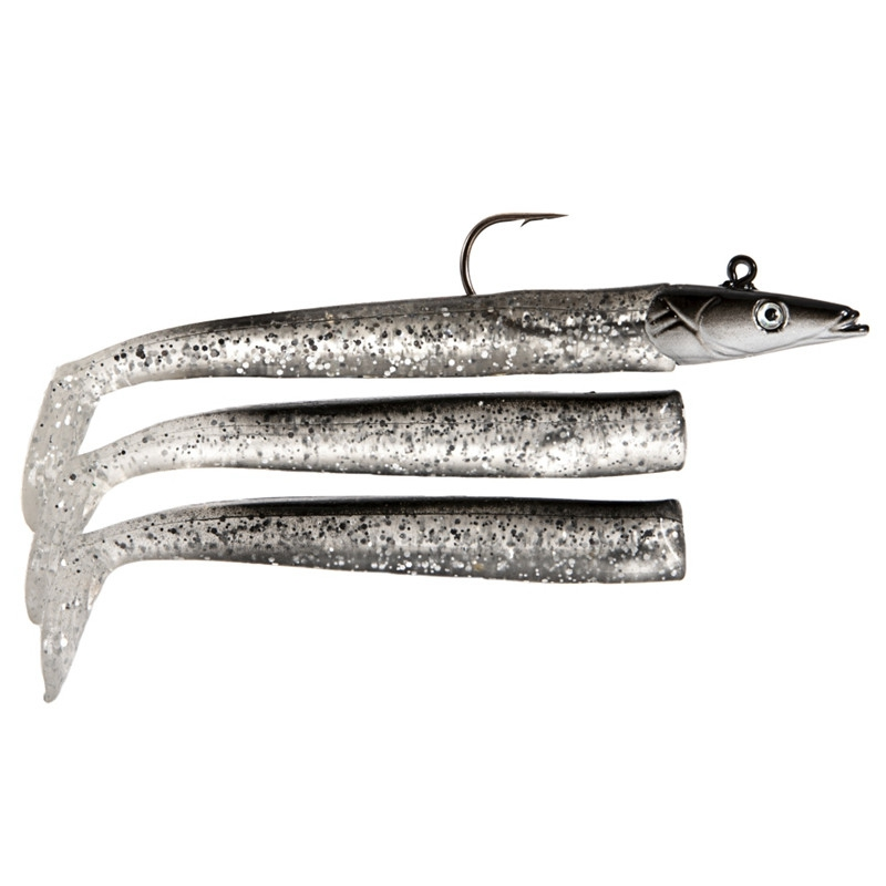 1 set 12.5cm Glow Soft Lure Wobblers Artificial Bait Silicone Fishing Lure Sea Bass Carp Lead Spoon Jig Lures Tackle