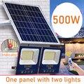 500 Вт Солнечный СВЕТОДИОДНЫЙ светильник водонепроницаемый уличный садовый светильник с дистанционным управлением удлинитель уличный свет...