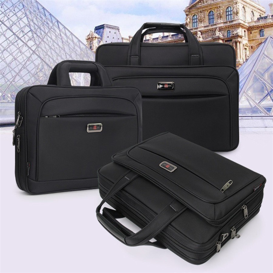 "2020 New Business Men Briefcase High Capacity Men's Single Shoulder Bags 14"" 15"" 16"" Laptop Bag Women Work Files Office Package"